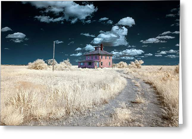 The Pink House In Halespectrum 1 Greeting Card