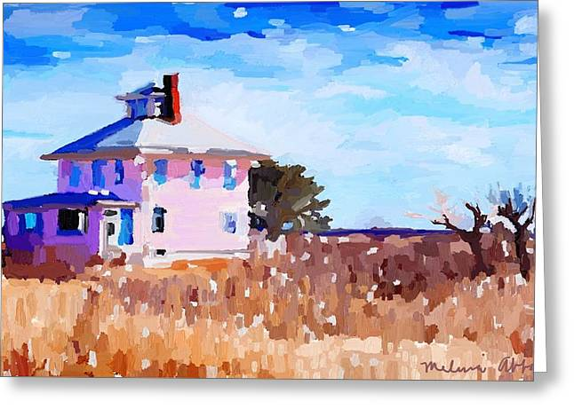 The Pink House, Newburyport, Ma. Greeting Card