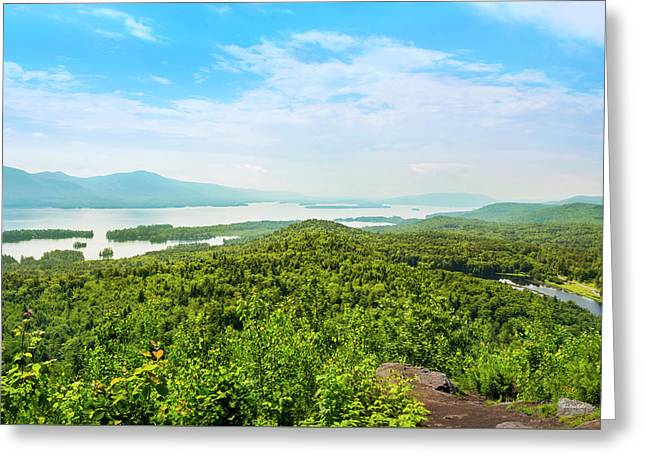 The Pinnacle View Of Lake George Greeting Card