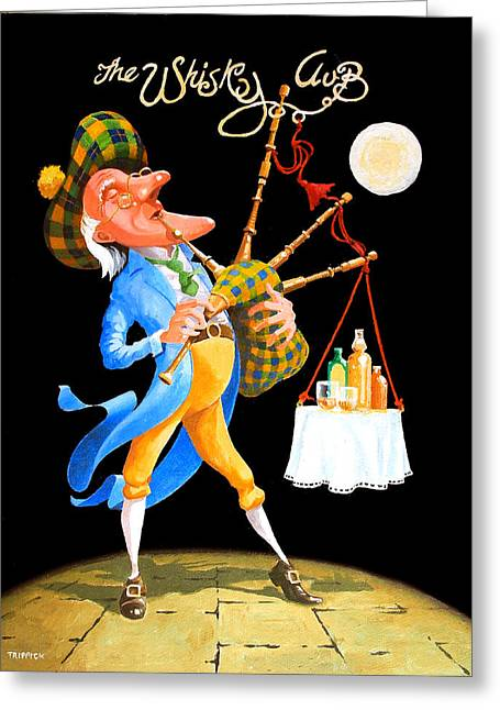 Johnny Trippick Greeting Cards - The Piper Greeting Card by Johnny Trippick