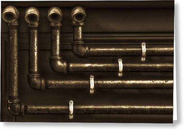 The Pipes Greeting Card by Andrew Kubica
