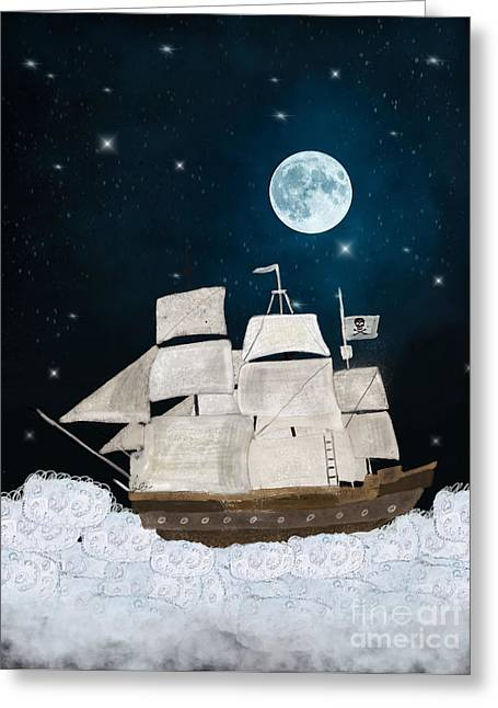 The Pirate Ghost Ship Greeting Card