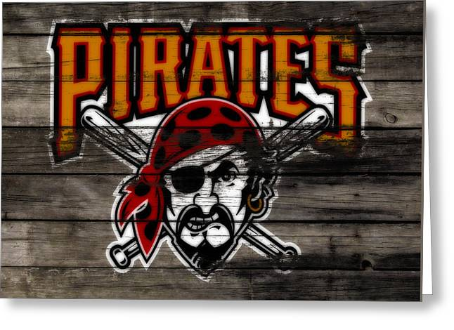The Pittsburgh Pirates 1a Greeting Card by Brian Reaves