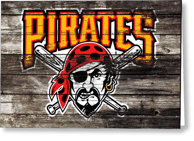 The Pittsburgh Pirates 1c Greeting Card by Brian Reaves