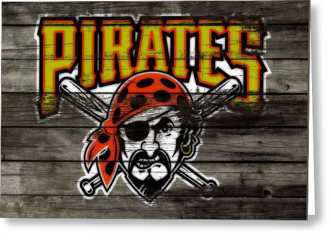 The Pittsburgh Pirates Greeting Card by Brian Reaves