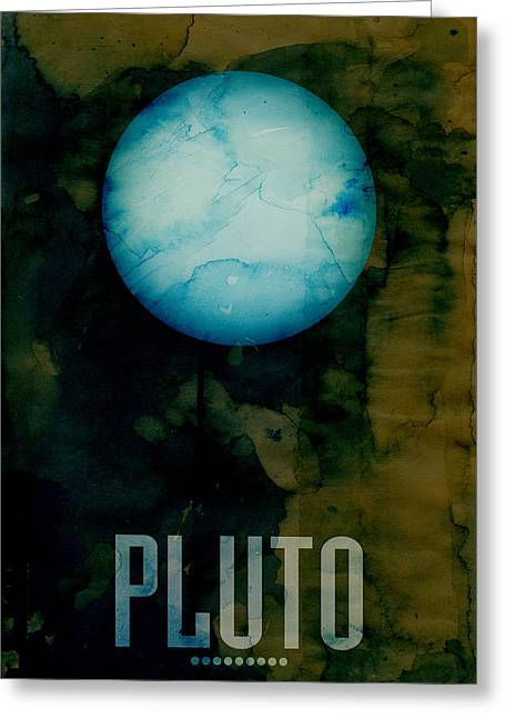Star Greeting Cards - The Planet Pluto Greeting Card by Michael Tompsett