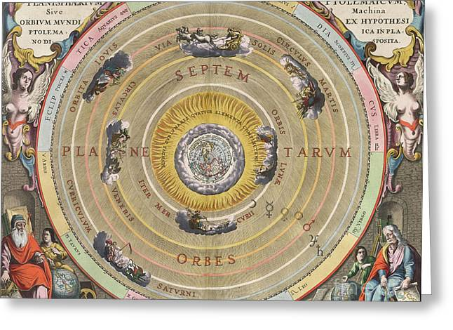 The Planisphere Of Ptolemy, Harmonia Greeting Card