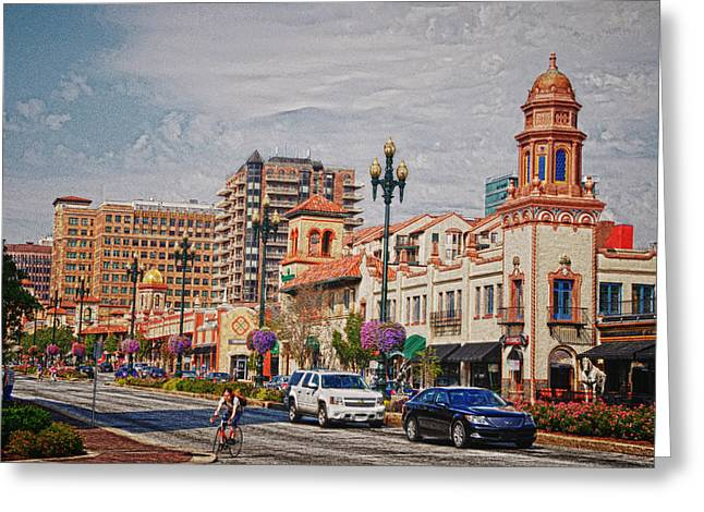 The Plaza In Kansas City Greeting Card by Lyle  Huisken