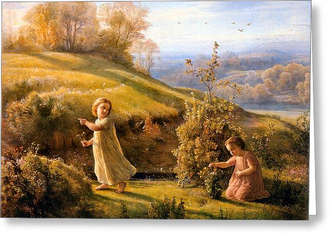 The Poem Of The Soul Spring Anne Francois Louis Janmot 1854. Greeting Card