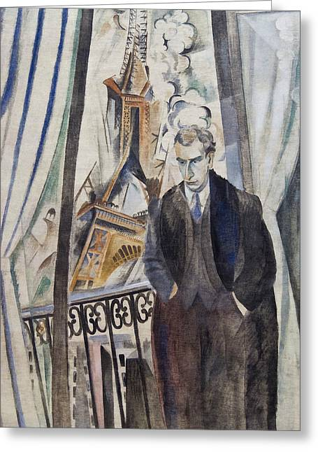The Poet Philippe Soupault Greeting Card by Robert Delaunay