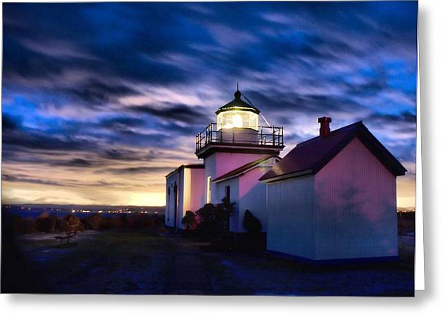 The Point No Point Lighthouse In Color Tonemapped Greeting Card