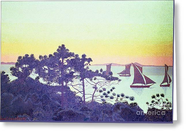 The Pointe De La Galere Greeting Card by Henri-Edmond Cross