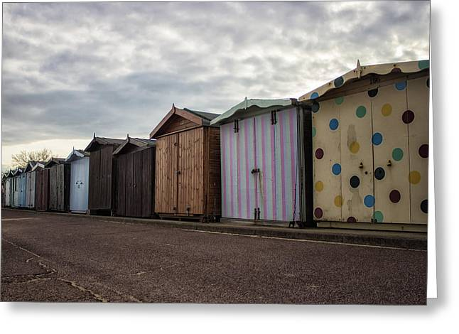 The Polka Dot Hut Greeting Card by Martin Newman