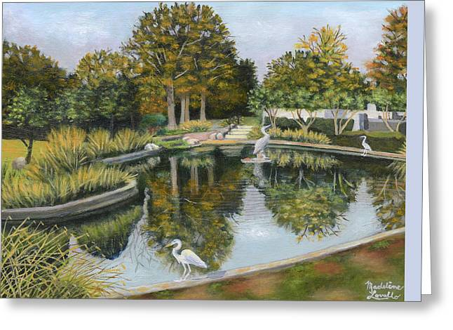 The Pond At Maple Grove Greeting Card