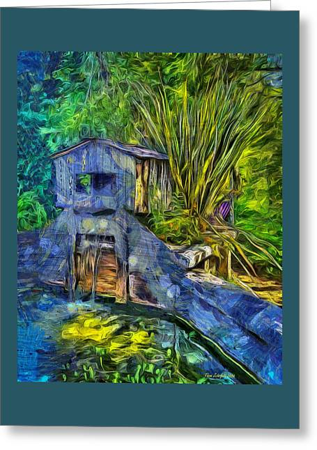 Greeting Card featuring the photograph Blakes Pond House by Thom Zehrfeld