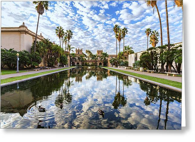 Balboa Park Greeting Cards - The Pond Greeting Card by Joseph S Giacalone