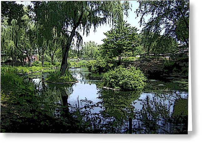 The Pond Greeting Card by Skyler Tipton