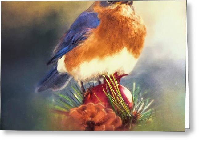 The Pondering Bluebird Greeting Card