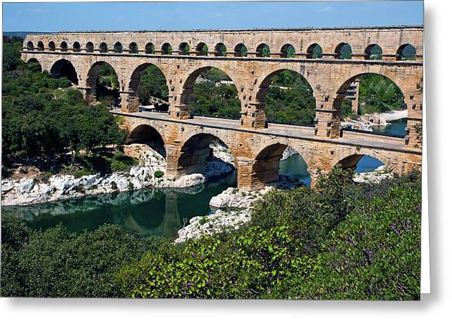 The Pont Du Gard Greeting Card by Sami Sarkis
