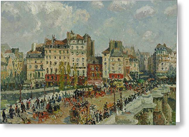 The Pont Neuf  Greeting Card by Camille Pissarro