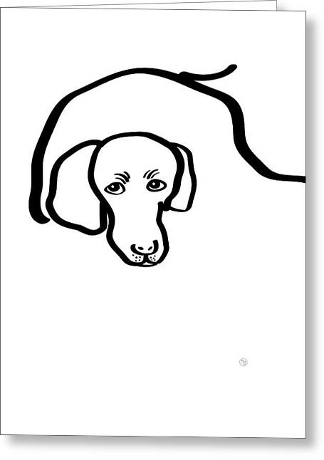 The Poodle Greeting Card by Ruruflo