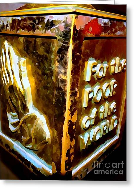 The Poor Box Greeting Card by Ed Weidman