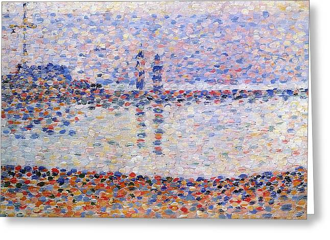 The Port At Gravelines, Study Greeting Card