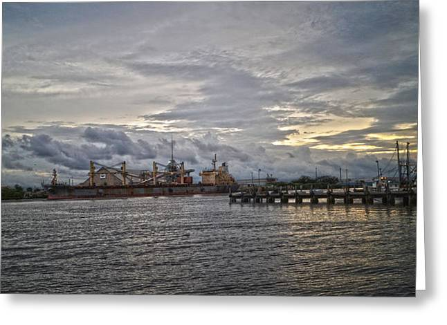 The Port Greeting Card by Chauncy Holmes