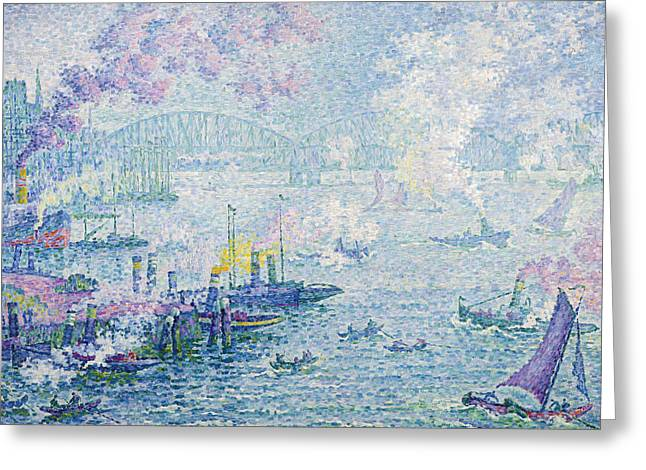 The Port Of Rotterdam Greeting Card by Paul Signac