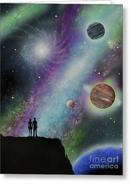 Greeting Card featuring the painting The Possibilities by Mary Scott