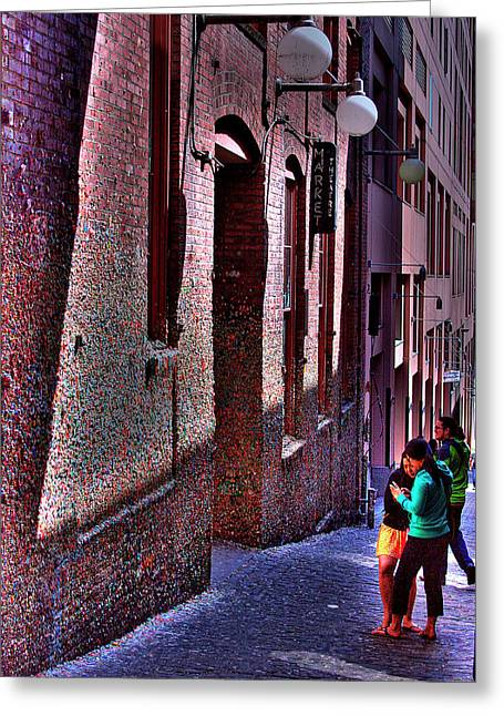 The Post Alley Gum Wall Greeting Card