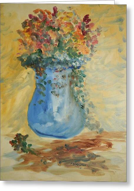 The Pot Belly Vase Greeting Card by Edward Wolverton