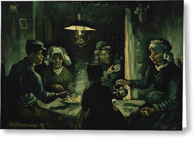 The Potato Eaters 1885 Greeting Card by Vincent Van Gogh