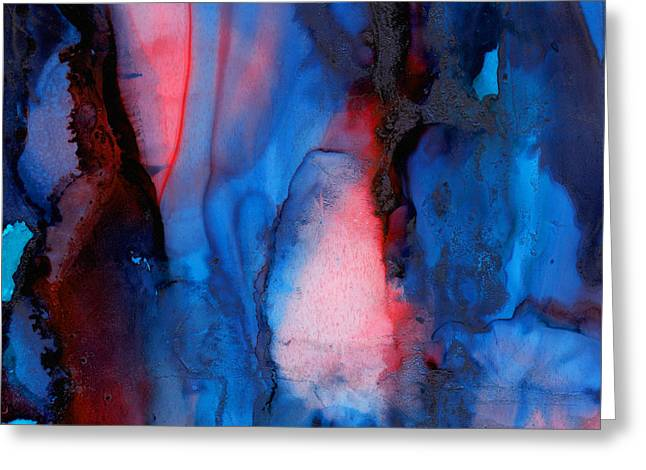 The Potential Within - Squared 2 - Tryptich Greeting Card by Michelle Wrighton