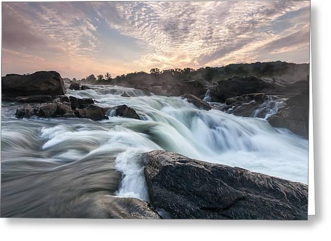 The Potomac River At Great Falls Greeting Card by Mark VanDyke
