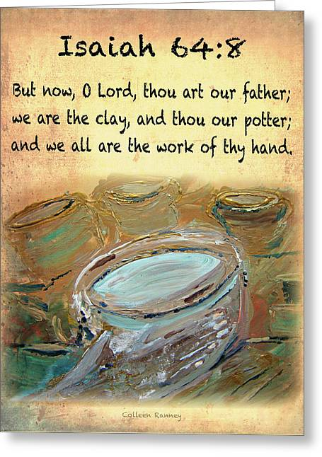 The Potter Bible Verses Greeting Card