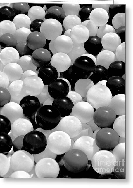 The Power Of Black And White Greeting Card by Carol F Austin