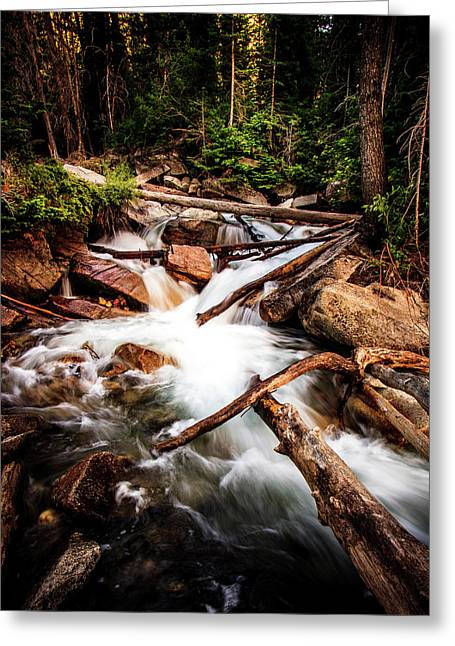 The Power Of Nature - Little Cottonwood Creek Greeting Card by TL Mair