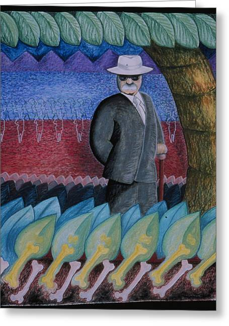 The Powerbroker Greeting Card by Barbara Nesin