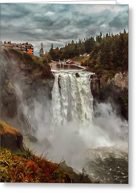 The Powerful Snoqualmie Falls Greeting Card