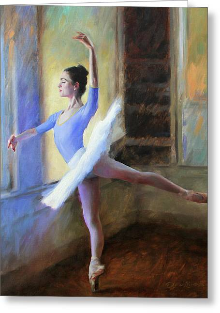 The Practice Tutu Greeting Card by Anna Rose Bain