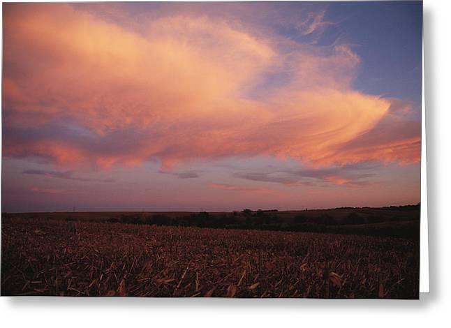 The Prairie Meets The Sky Greeting Card