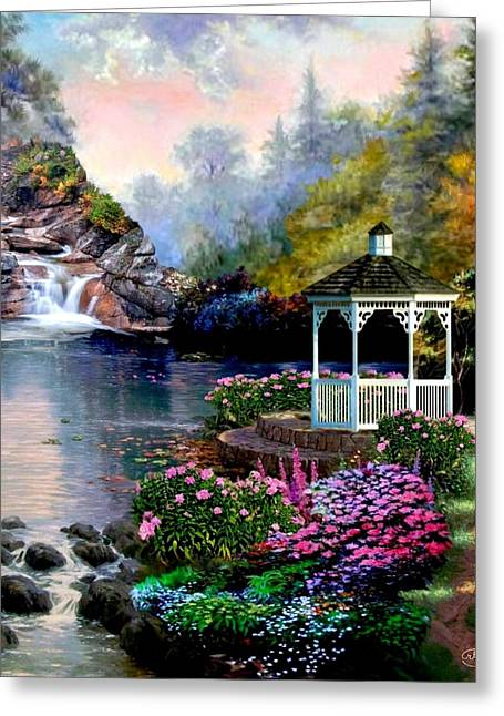 The Prayer Garden Greeting Card