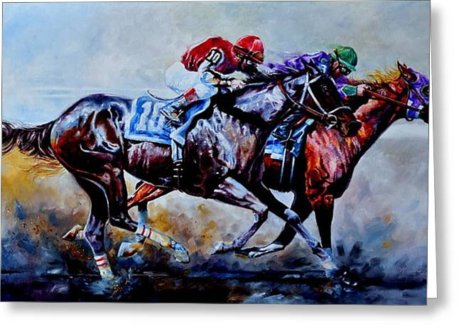 The Preakness Stakes Greeting Card by Hanne Lore Koehler