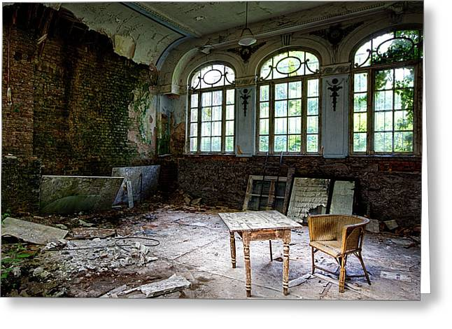 The Presence Of Absence - Abandoned Building Urbex Greeting Card