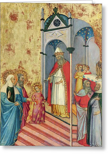 The Presentation Of The Virgin In The Temple Greeting Card