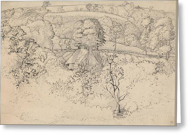 The Primitive Cottage, Shoreham Greeting Card by Samuel Palmer
