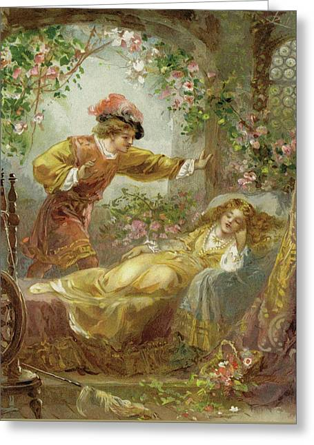 The Prince Finds The Sleeping Beauty Greeting Card