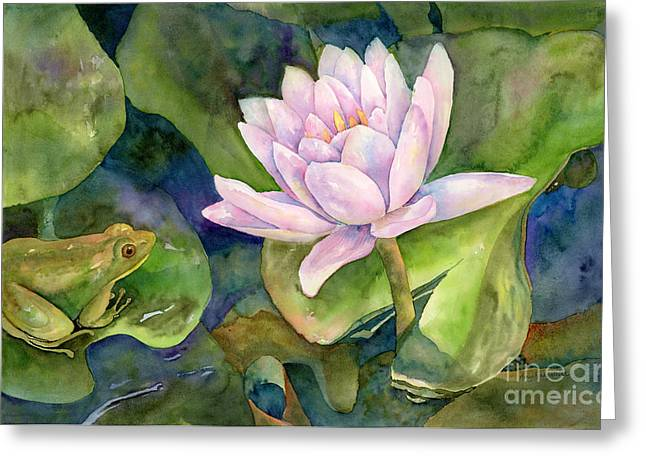 The Prince Of Peace Pond Greeting Card by Amy Kirkpatrick