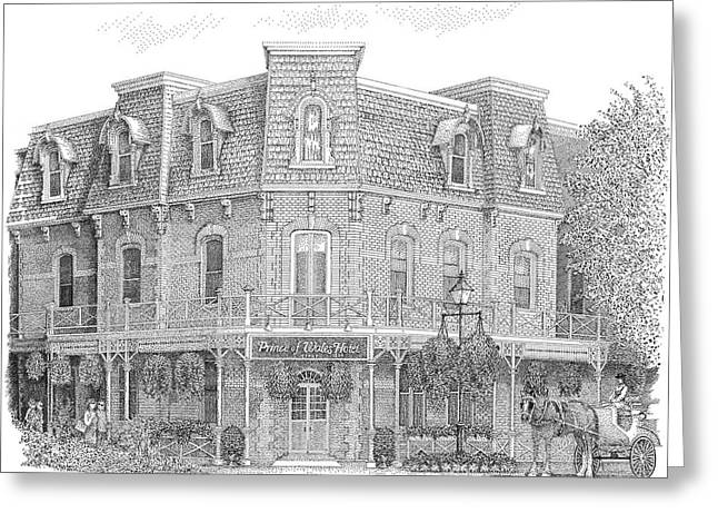 The Prince Of Wales Hotel Greeting Card by Steve Knapp